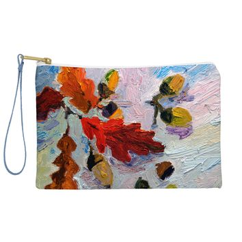 Ginette Fine Art Acorns In The Snow Pouch