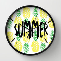 Summer  Wall Clock by Ashley Hillman
