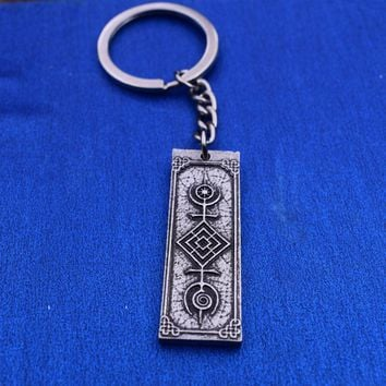 Tree of Life Sacred Geometry Amulet Runic Keychain | Sigil of the Cosmos