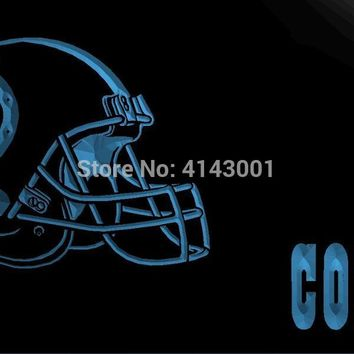 LS2084-b- Indianapolis Colts Helmet Bar 3D LED Neon Light Sign Customize on Demand 8 colors to choose