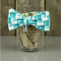 The Aqua Waves Bow Tie