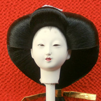 Japanese Doll Head - Woman - Hina Doll - Queen D4-37