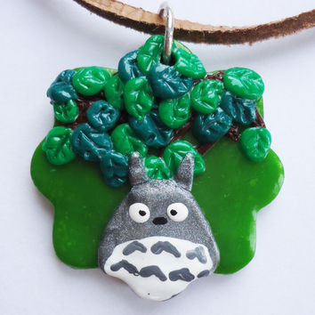 NECKLACE / PENDANT  Totoro in Forest by FrozenNote on Etsy