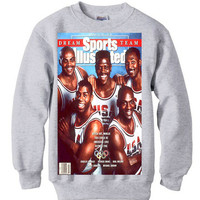 92 olympic DREAM TEAM vintage spike lee magic larry bird michael jordan mars blackmon sweater sweatshirt nba bulls men retro xmas