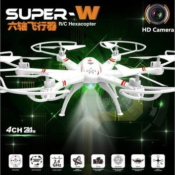 Six axis aircraft 33051W 2.4G 45cm large size one key return 2.0MP camera anti-fall aerial remote control RC drone helicopter