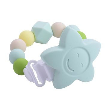 Silicone Beads Flower Chewable Infant Teething Toys