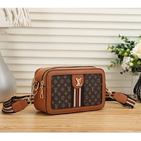 Louis Vuitton Women Leather Shoulder Bag Crossbody Satchel