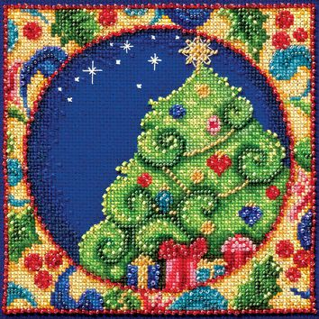 """Tree (18 Count) Mill Hill/Jim Shore Counted Cross Stitch Kit 5""""X5"""""""