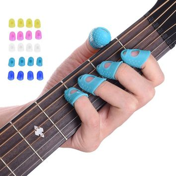 12pcs Celluloid Guitar Thumb Picks Finger Picks Plectrum Band Liparite