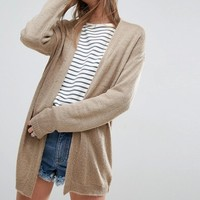 ASOS Cardigan In Fine Knit Fluffy Yarn at asos.com