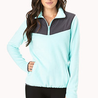Fleece Knit Athletic Pullover