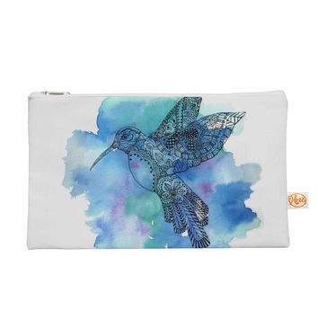 "Sonal Nathwani ""Hummingbird"" Blue Watercolor Everything Bag"