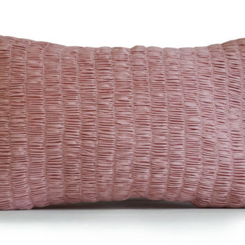 Dirty Pink Cotton Pillow Cover -Textured Cushion -Blush Pink Pillowcase -Nursery Decor -Dorm Decor -Girly Cute Pillow -Gift -Throw Pillows
