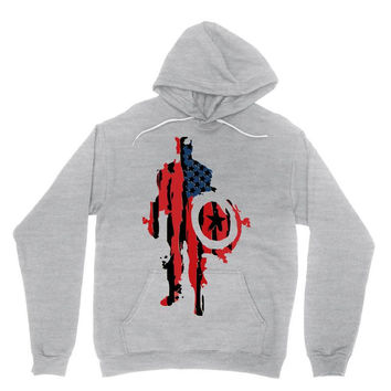 captain america flag abstract Hoodie
