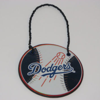 Los Angeles Dodgers Door Knob Hanger - Boys Room Decor - Christmas Ornament