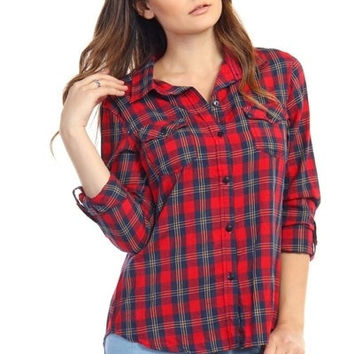Button Down Plaid Shirt (more colors) - FINAL SALE