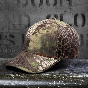 Camouflage cap Army hat training cap soldier Snapback Bones Airsoft cap Adjustable dad hats Men Women Baseball Cap b100
