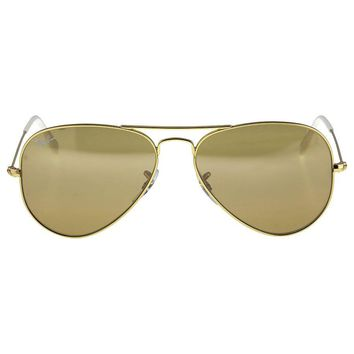Cheap Ray-Ban Aviator Gradient Brown-Silver Mirror 58 mm Ladies Sunglasses outlet
