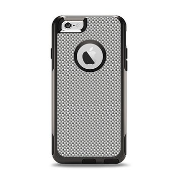 The Gray Carbon FIber Pattern Apple iPhone 6 Otterbox Commuter Case Skin Set