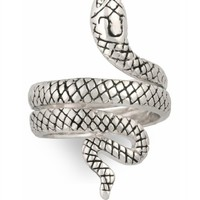 JanKuo Jewelry Antique Style Snake Cocktail Ring with Gift Box (7)