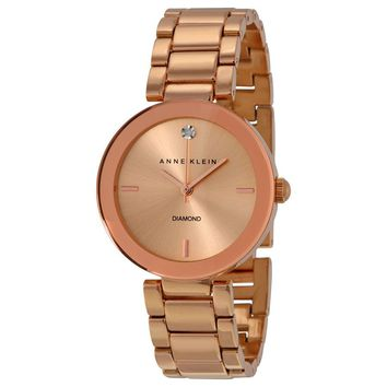Anne Klein Rose Dial Rose Gold-tone Ladies Watch 1362RGRG