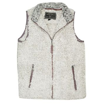 Frosty Tipped Double Up Vest in Putty by True Grit