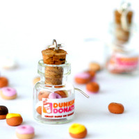 20OFF SALE Dunkin Donuts kawaii earrings jar polymer by Zoozim
