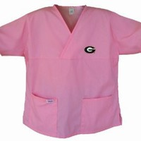Amazon.com: Georgia Bulldogs Pink Scrubs Tops SHIRT University of Georgia For HER -Officially Licensed NCAA College Logo Apparel Unique GIFT Ideas For Mom Nurses Ladies Students Graduation: Sports & Outdoors