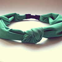 Kelly Green Knotted Turban Headband Hair Accessories Hippie Headband Headwrap Twist Headband Bohemian Headband