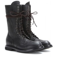 rick owens - army laced leather boots