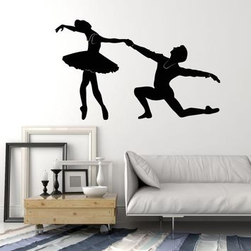 Vinyl Wall Decal Ballerina Ballet Dancer Studio Dance Stickers Unique Gift (2054ig)