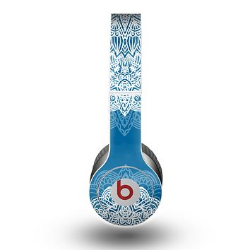 The Intricate Blue & White Snowflake Name Script Skin for the Beats by Dre Original Solo-Solo HD Headphones