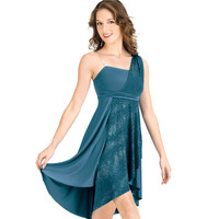Adult Sparkling Asymmetrical Lyrical Dress