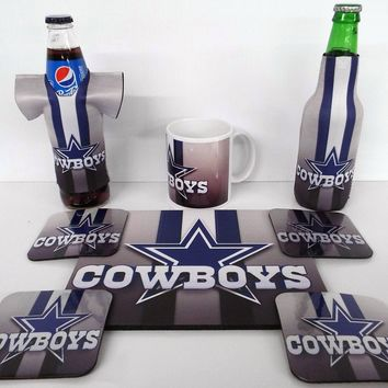 Dallas Cowboys Gift Set Coasters Koozies Mugs