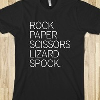 ROCK, PAPER, SCISSORS, LIZARD, SPOCK - THE BIG BANG THEORY - Marvel Designs