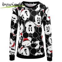 Autumn Winter Women Sweatshirts Mickey Printed Cartoon Tracksuits Hoodies