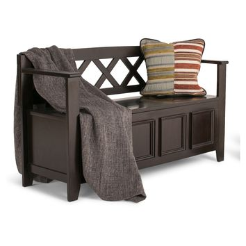 Simpli Home Amherst Storage Bench - Indoor Benches at Hayneedle