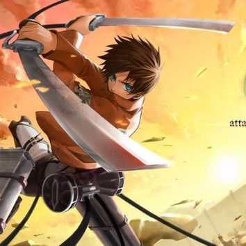 Cool Attack on Titan 3057  Manga Hot Anime-Wall Sticker Art Poster For Home Decor Silk Canvas Painting AT_90_11