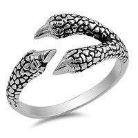 925 Sterling Silver Claw 11MM Ring