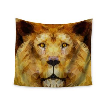 "Ancello ""Lion King"" Yellow Brown Wall Tapestry"
