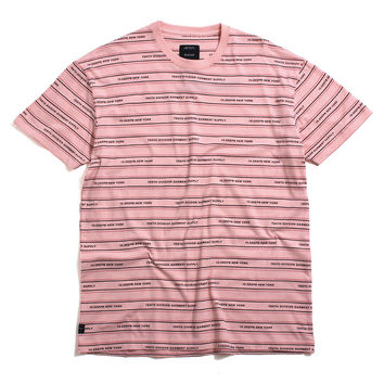 Garment Supply Stripe T-Shirt Pink