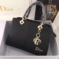 Dior Women Shopping Leather Tote Handbag Shoulder Bag