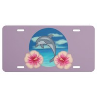 Dolphin Paradise License Plate