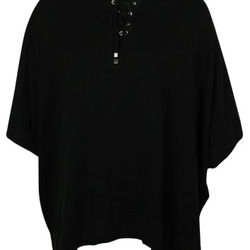 Style & Co Women's Hooded Poncho