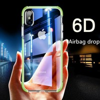 Hybrid Gasbag ShockProof Soft Case for iphone XS MAX XR 6 6s 7 8 Plus X Silicone TPU Clear Cover for Samsung Galaxy S9 / S9 Plus