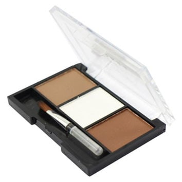 3 Colours Waterproof Eyebrow Powder Palette with Brush