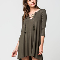 SOCIALITE Lace Up Dress | Short Dresses
