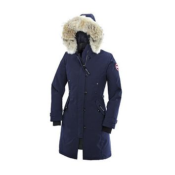 CANADA GOOSE jacket Women's Kensington Parka BLACK,RED,NAVY S,M,L,XL,XXL