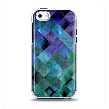 The Multicolored Tile-Swirled Pattern Apple iPhone 5c Otterbox Symmetry Case Skin Set