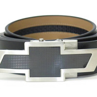 Chevrolet Black Leather Belt-Chevy Mall